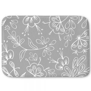 Decorative Bathroom Mats   Zara Martina - Grey Flora Mix