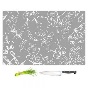 Artistic Kitchen Bar Cutting Boards | Zara Martina - Grey Flora Mix