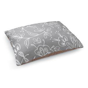 Decorative Dog Pet Beds | Zara Martina - Grey Flora Mix
