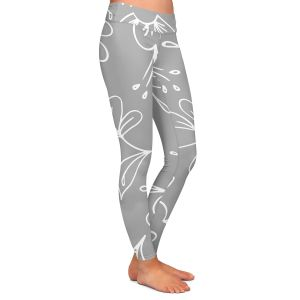 Casual Comfortable Leggings   Zara Martina - Grey Flora Mix