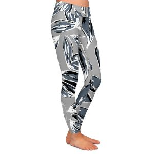 Casual Comfortable Leggings | Zara Martina - Grey Leafy Layers
