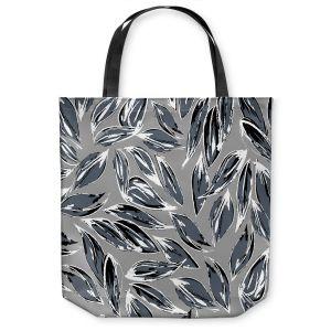 Unique Shoulder Bag Tote Bags | Zara Martina - Grey Leafy Layers