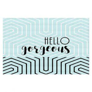 Decorative Floor Coverings | Zara Martina - Hello Gorgeous Geo Pattern Blue