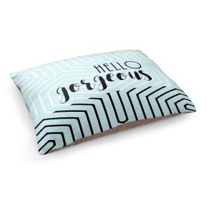 Decorative Dog Pet Beds | Zara Martina - Hello Gorgeous Geo Pattern Blue