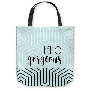 Unique Shoulder Bag Tote Bags |Zara Martina - Hello Gorgeous Geo Pattern Blue