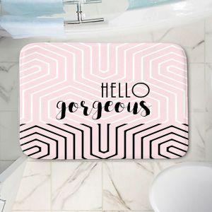 Decorative Bathroom Mats | Zara Martina - Hello Gorgeous Geo Pattern Pink