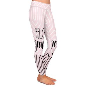 Casual Comfortable Leggings | Zara Martina - Hello Gorgeous Geo Pattern Pink