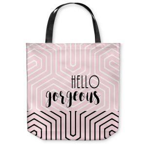 Unique Shoulder Bag Tote Bags |Zara Martina - Hello Gorgeous Geo Pattern Pink