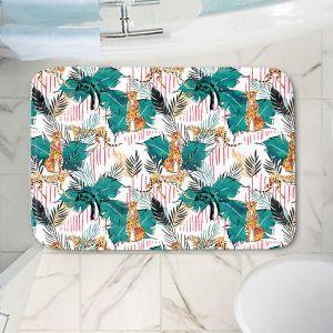 Decorative Bathroom Mats | Zara Martina - Hunters | pattern nature cheetah cat