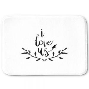 Decorative Bathroom Mats | Zara Martina - I Love Us Black White