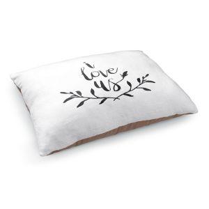 Decorative Dog Pet Beds | Zara Martina - I Love Us Black White
