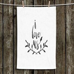 Unique Hanging Tea Towels | Zara Martina - I Love Us Black White | I Love Us Sayings Love Wedding