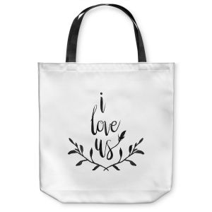 Unique Shoulder Bag Tote Bags |Zara Martina - I Love Us Black White