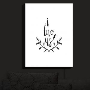 Nightlight Sconce Canvas Light | Zara Martina - I Love Us Black White | I Love Us Sayings Love Wedding