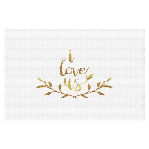 Decorative Floor Coverings | Zara Martina - I Love Us Gold White