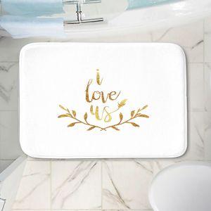 Decorative Bathroom Mats | Zara Martina - I Love Us Gold White