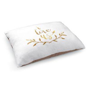 Decorative Dog Pet Beds | Zara Martina - I Love Us Gold White