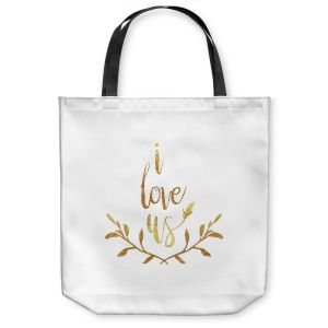 Unique Shoulder Bag Tote Bags |Zara Martina - I Love Us Gold White