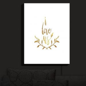 Nightlight Sconce Canvas Light | Zara Martina - I Love Us Gold White | I Love Us Sayings Love Wedding