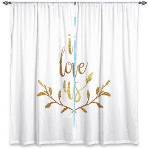 Decorative Window Treatments | Zara Martina - I Love Us Gold White