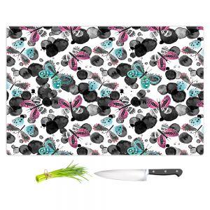 Artistic Kitchen Bar Cutting Boards | Zara Martina - Inky Butterflies | pattern insect critter bug