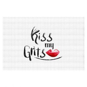 Decorative Floor Coverings | Zara Martina - Kiss My Grits | Inspiring Typography Lady Like