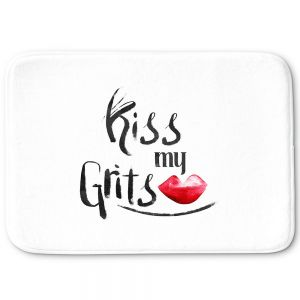Decorative Bathroom Mats | Zara Martina - Kiss My Grits | Inspiring Typography Lady Like