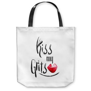 Unique Shoulder Bag Tote Bags | Zara Martina - Kiss My Grits | Inspiring Typography Lady Like