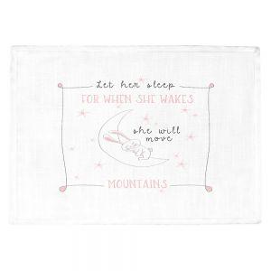 Countertop Place Mats | Zara Martina - Let Her Sleep Rose | Typography Childlike Children