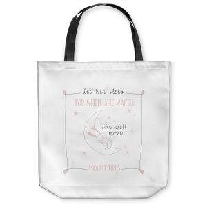 Unique Shoulder Bag Tote Bags | Zara Martina - Let Her Sleep Rose | Typography Childlike Children