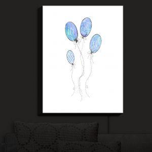 Nightlight Sconce Canvas Light | Zara Martina - Let It Go Blue White