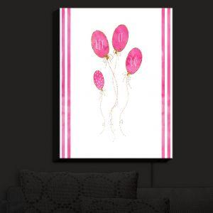 Nightlight Sconce Canvas Light | Zara Martina - Let It Go Pink Gold Stripe White