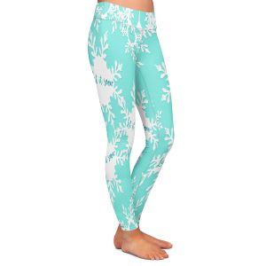 Casual Comfortable Leggings | Zara Martina - Let it Snow Mint | Holiday Snowflakes