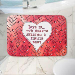 Decorative Bathroom Mats | Zara Martina - Love Heart Trees On Red