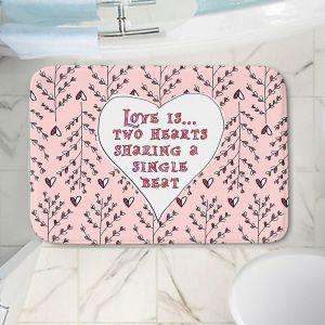 Decorative Bathroom Mats | Zara Martina - Love Heart Trees On Roses
