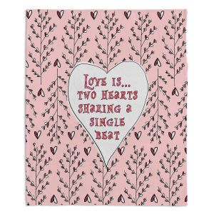 Decorative Fleece Throw Blankets | Zara Martina - Love Heart Trees On Roses