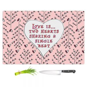 Artistic Kitchen Bar Cutting Boards | Zara Martina - Love Heart Trees On Roses
