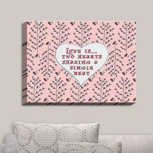 Decorative Canvas Wall Art | Zara Martina - Love Heart Trees On Roses | Quotes Patterns Hearts