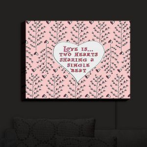 Nightlight Sconce Canvas Light | Zara Martina - Love Heart Trees On Roses | Quotes Patterns Hearts