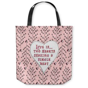 Unique Shoulder Bag Tote Bags | Zara Martina - Love Heart Trees On Roses