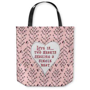 Unique Shoulder Bag Tote Bags | Zara Martina - Love Heart Trees On Roses