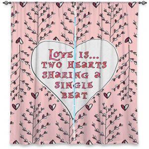 Decorative Window Treatments | Zara Martina - Love Heart Trees On Roses