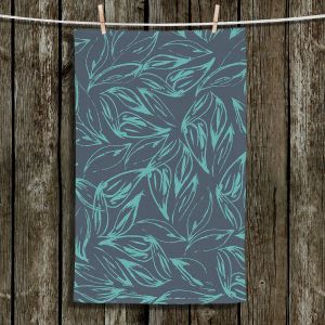 Unique Hanging Tea Towels | Zara Martina - Luminous Leafy Layers | Leaves Patterns
