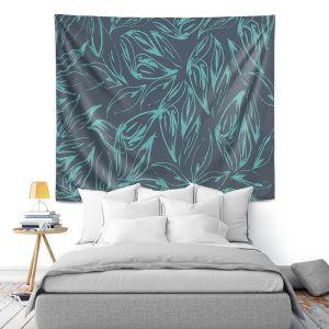 Artistic Wall Tapestry   Zara Martina - Luminous Leafy Layers