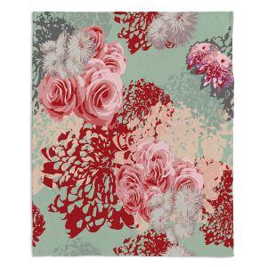 Decorative Fleece Throw Blankets | Zara Martina - Mint Blush