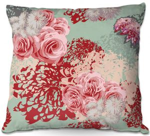 Decorative Outdoor Patio Pillow Cushion | Zara Martina - Mint Blush