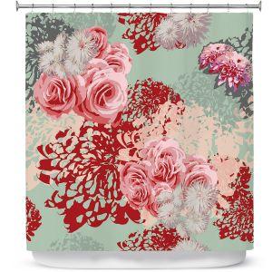 Premium Shower Curtains | Zara Martina - Mint Blush