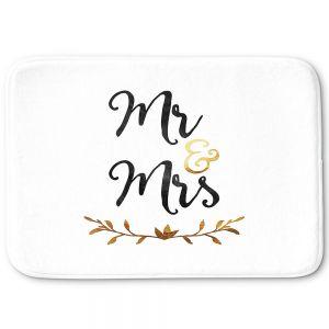 Decorative Bathroom Mats | Zara Martina - Mr. And Mrs. Black Gold