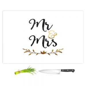 Artistic Kitchen Bar Cutting Boards | Zara Martina - Mr. And Mrs. Black Gold