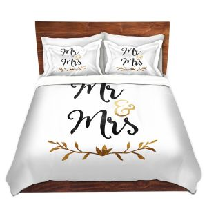 Artistic Duvet Covers and Shams Bedding | Zara Martina - Mr. And Mrs. Black Gold